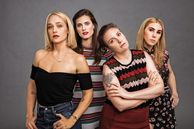Girls Season 6 promo pic- Kirke is far left.