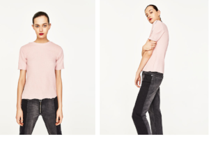 Zara, Round neck tshirt with zips