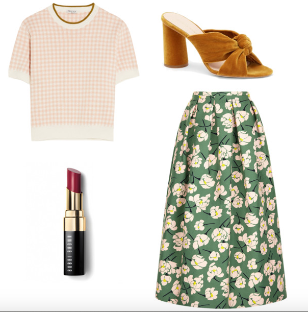 $$ Miu M  iu Top ,   Shoes  ( cheaper  but different),  Skirt ,  Lipstick
