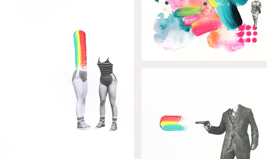 Snippets of Danielle Krysa's art.