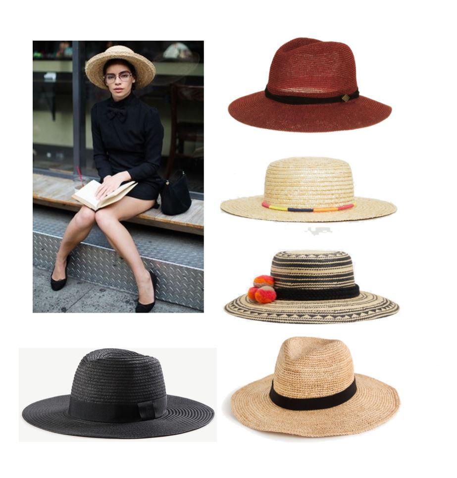 1.  My NOLA maroon fedora  2.  Boater hat  3. With pompoms  4.  similar Panama Hat 5.  Black