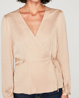 Zara's Long Sleeved Cross Front Blouse
