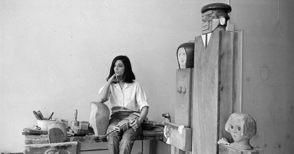 The artist Marisol, in her studio.