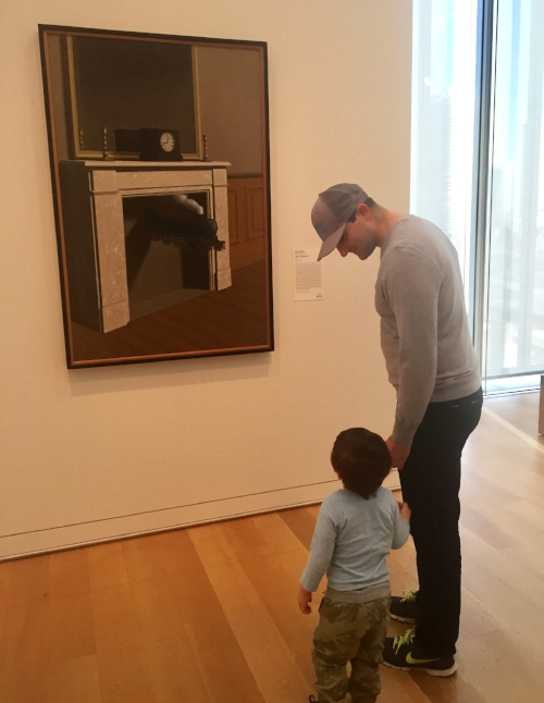 Teddy, age 2, with Jim, Art Institute