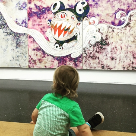 James, age 1, Museum of Contemporary Art