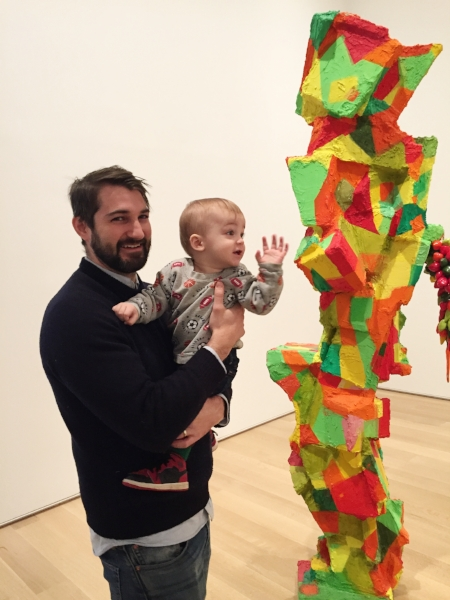 Jim and James, age 1, Art Institute