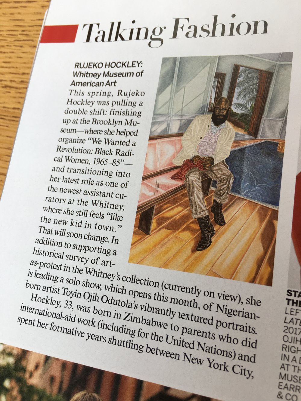 Rujecko Hockley just curated a show of Toyin Odutola's work at the Whitney