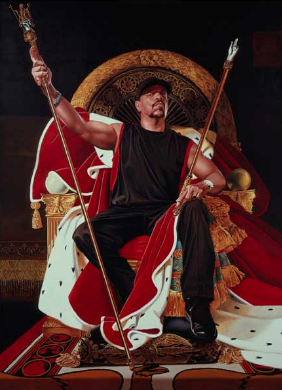 Wiley's famous portrait of Ice-T, after Jacques Louis David's Napoleon.