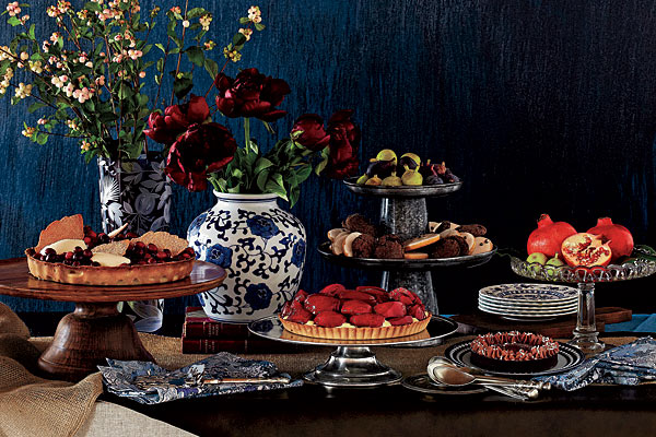 from a feature in  Chicago Mag  (Dinner Party vintage dinnerware and styling)