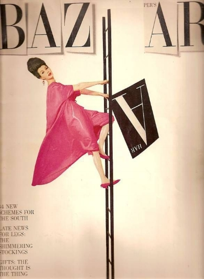 China Machado, shot by Avedon, on the cover of Harper's Bazaar, 1959