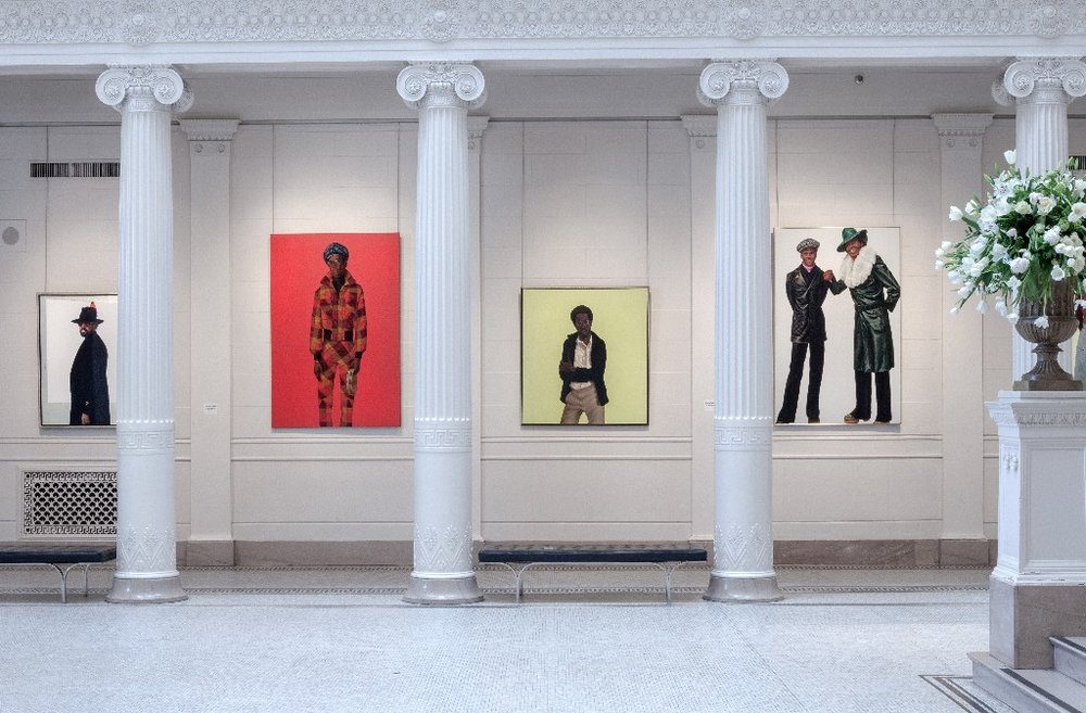 A view of Barkley Hendricks' paintings in Prospect NOLA.