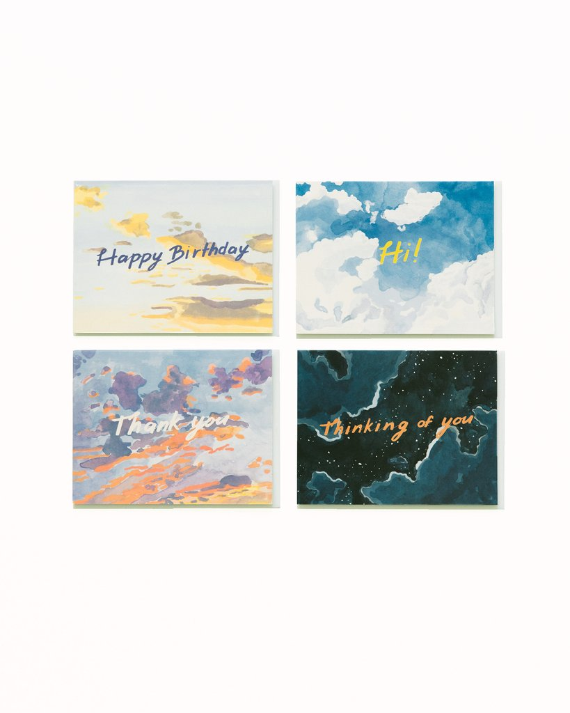 Hand painted with simple sentiments-  BIg Sky Card Set/ Small Adventure