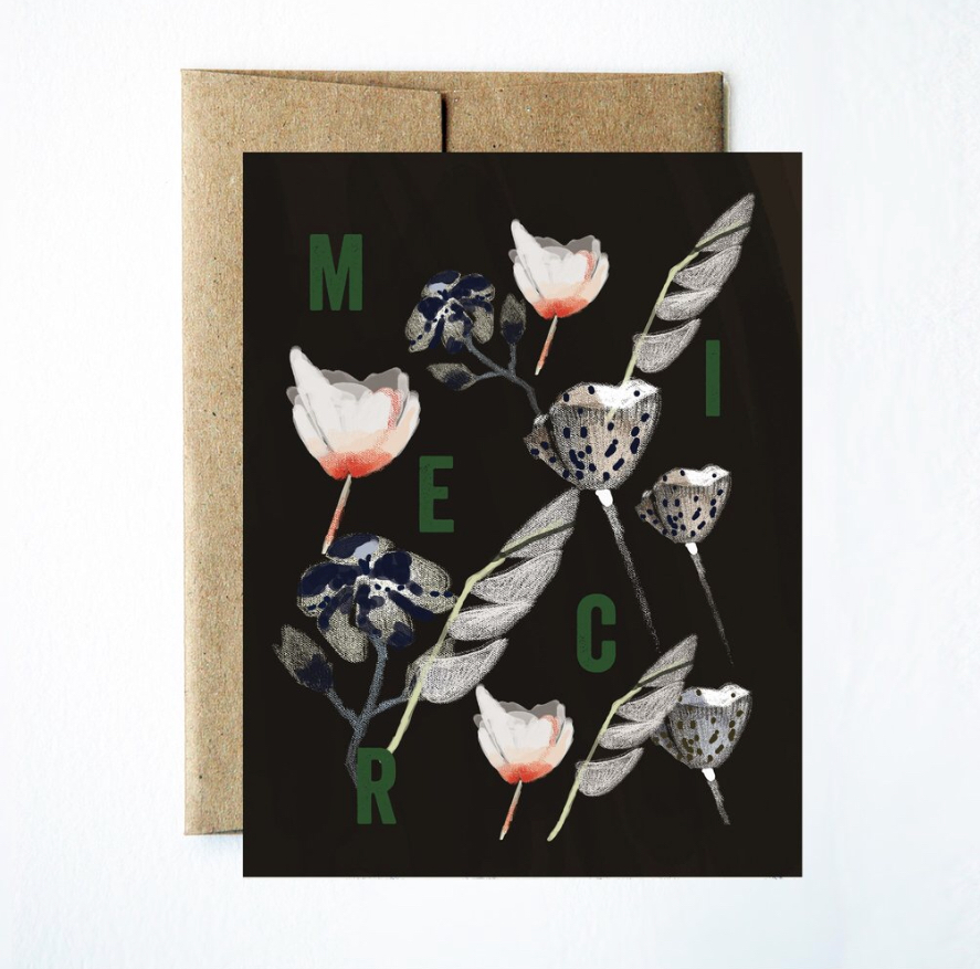 Beautiful with a bit of a Jumble challenge?   Noir Flowers Merci Boxed Set/ Ferme a Papier
