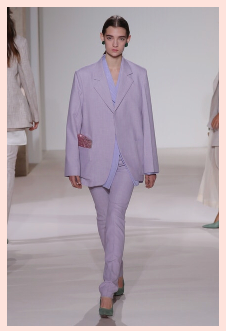 Wanna be on trend, mom? Nylon says go with pastels, menswear, or both!