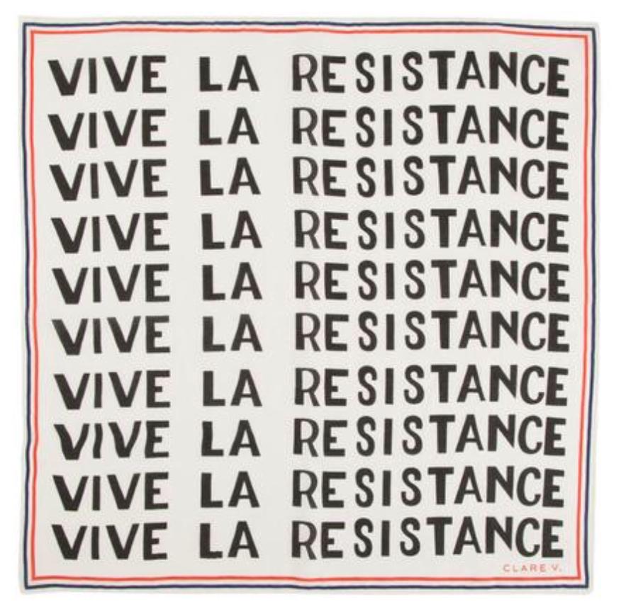 Clare Vivier Vive La Resistance Bandana