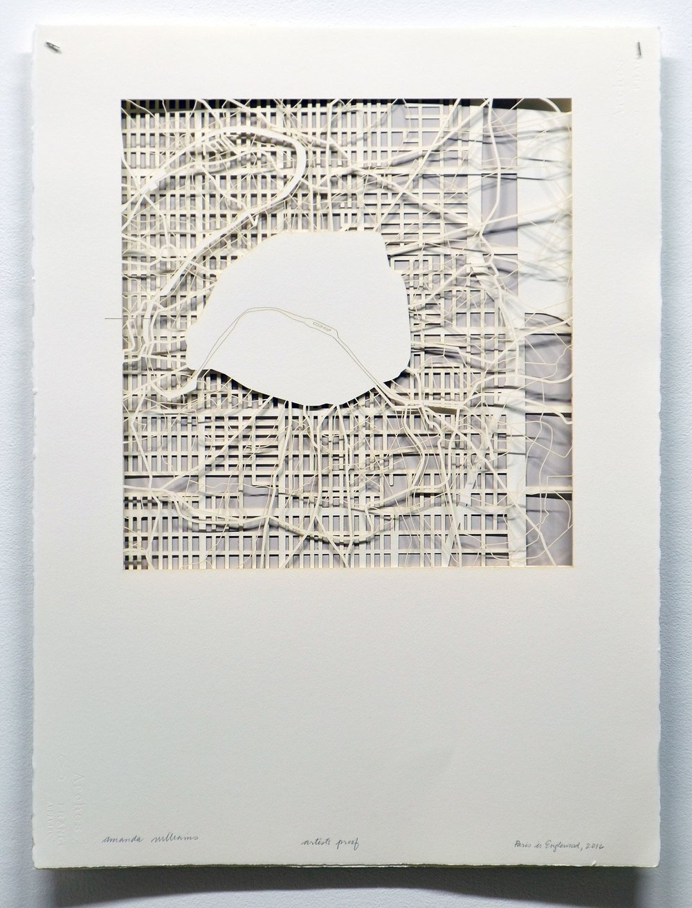 Amanda Williams,  Paris is Englewood , 2016. Laser-cut paper, artist's proof from an edition of 15; 30 × 22 ½ in. (76.2 × 57.2 cm)
