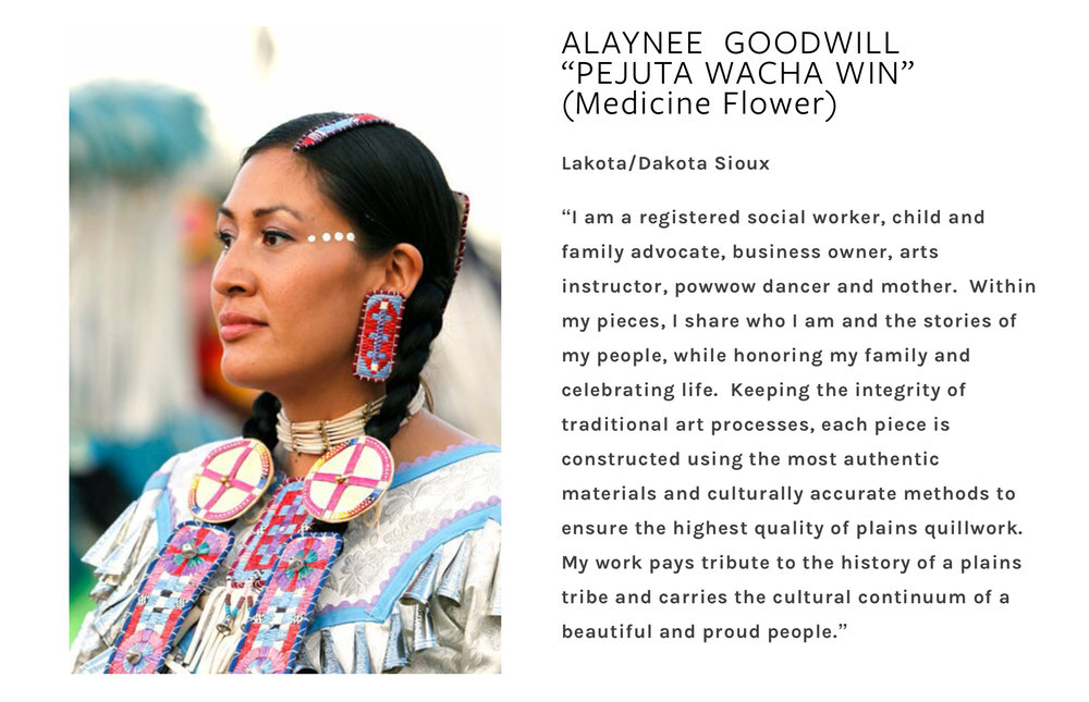 Alaynee Goodwill, a featured artist in the B. Yellowtail Collective