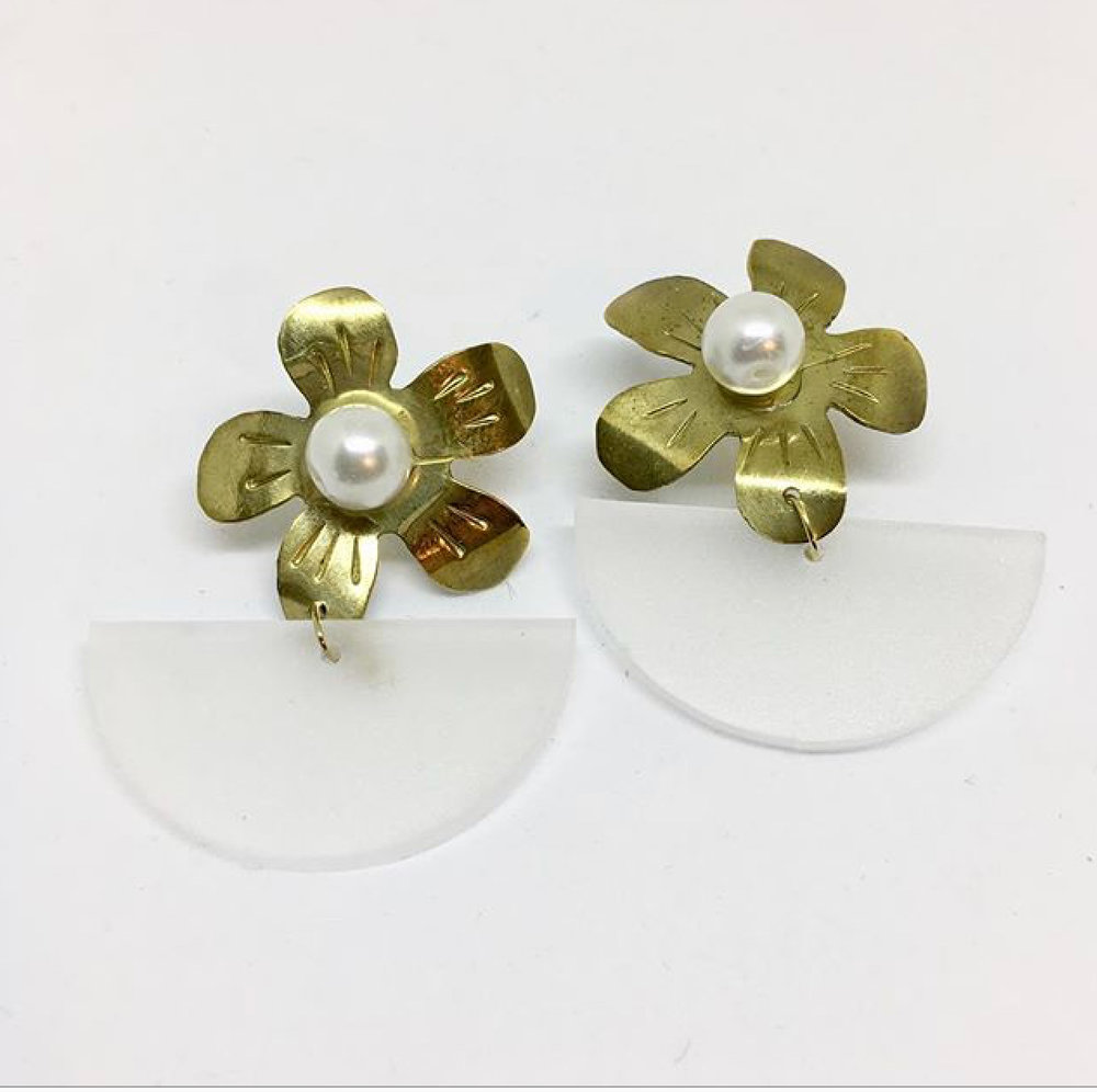 Custom Vintage Inspired Flower Earrings