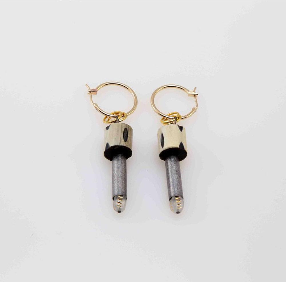PIA Faux Bullet Earring
