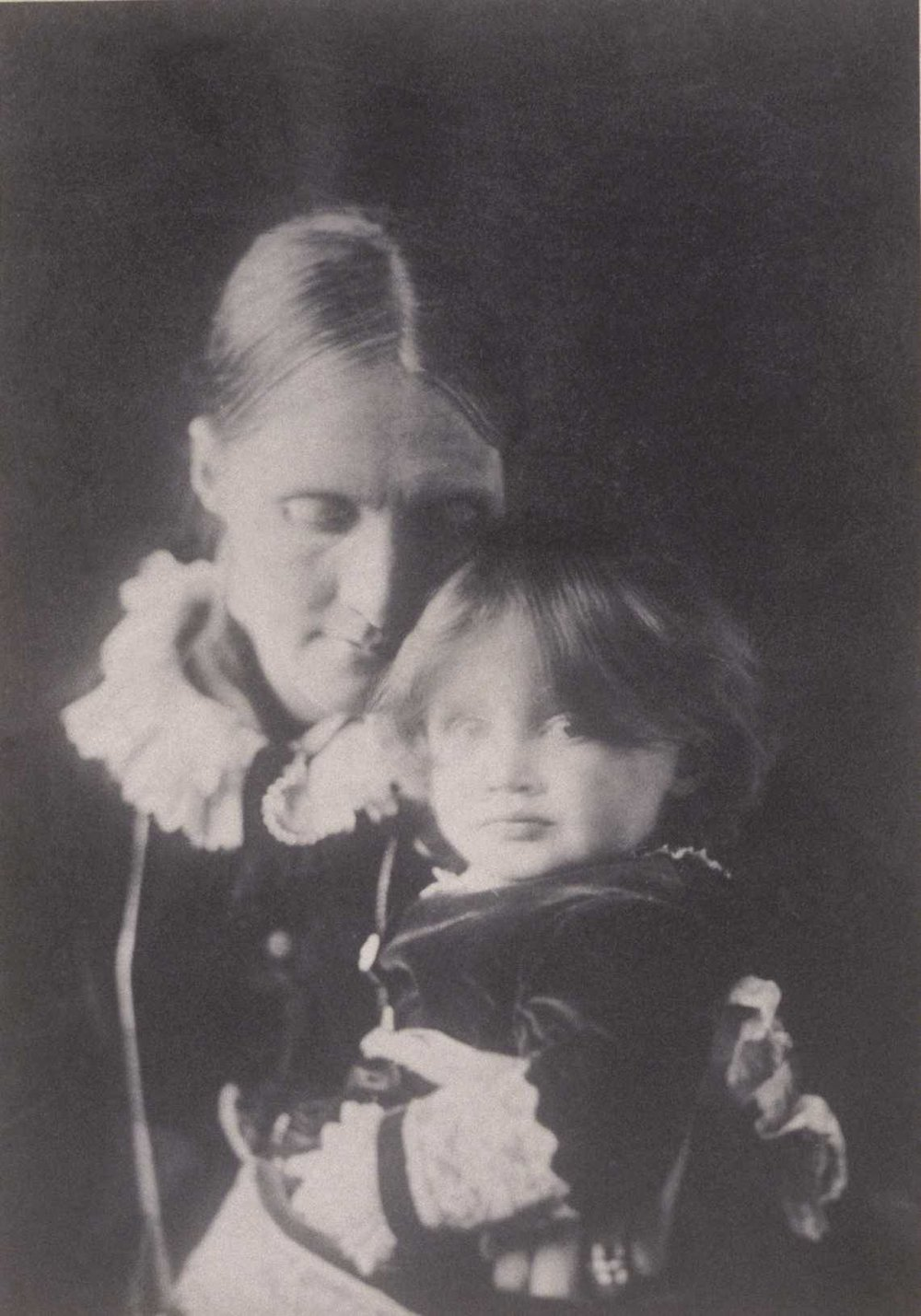 A young Virginia (Woolf) with her mother, Julia Stephen. Photo by Henry H. H. Cameron via  Camberwell Foxes