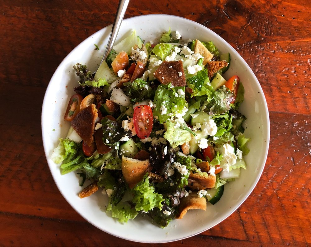 Lunch for one: Fattoush Salad