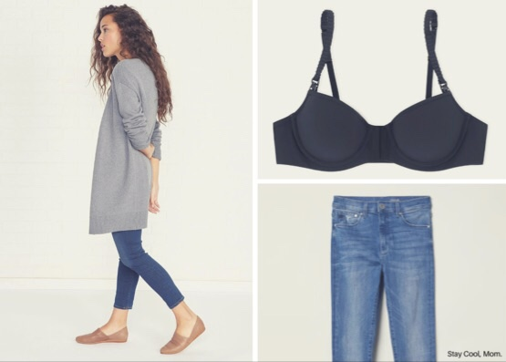 Amour Vert Oversized Cardigan ,  First Love Nursing Bra (SCM suggestion!) ,  H&M Shaping Jeans