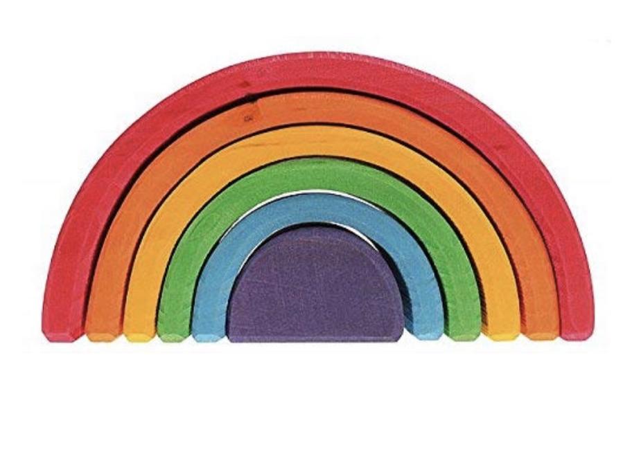 Rainbow Wooden Toy, $40