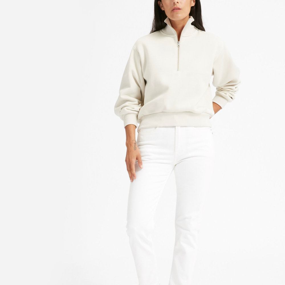 Everlane Oversized Fleece Half-Zip- $50