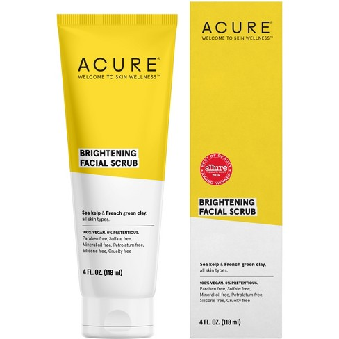 Acure Brightening Scrub with Sea Kelp & French Green Clay- $8.50