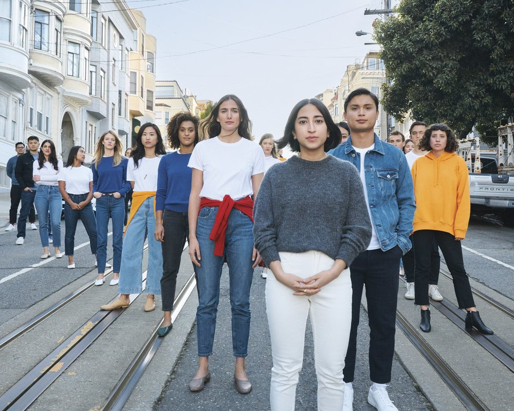Everlane staff, all wearing Everlane (via  Vogue )