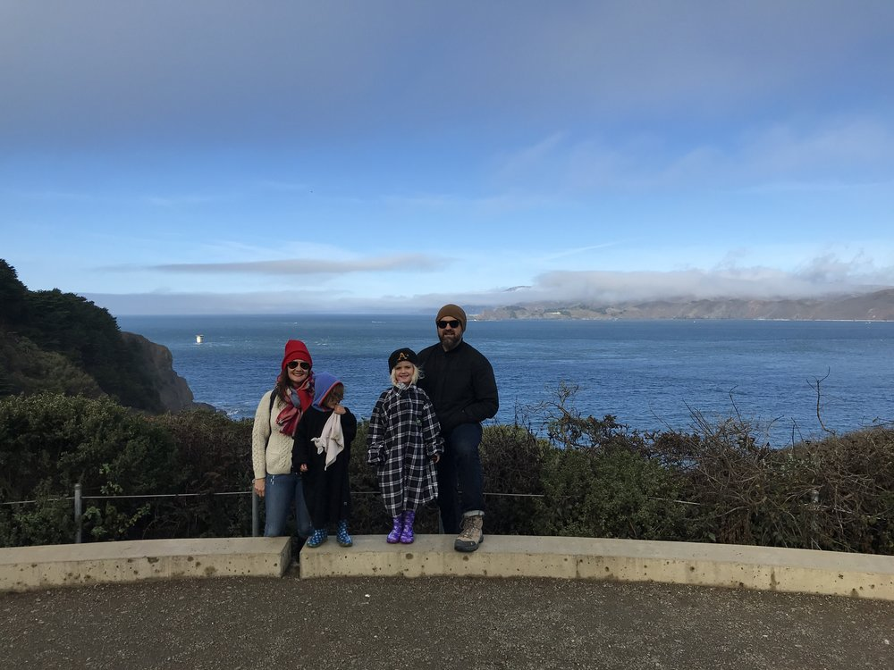 Family pic at Land's End