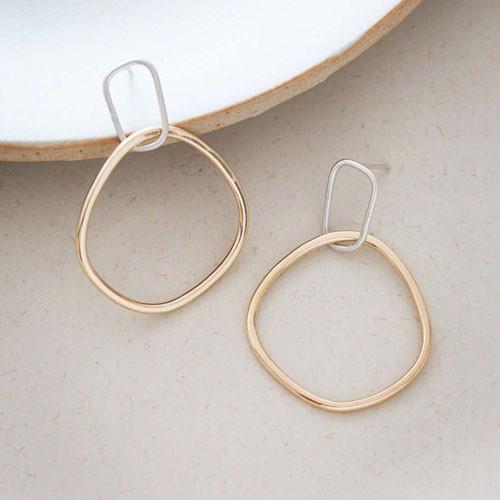 Interlocking hoop earrings by  Colleen Mauer