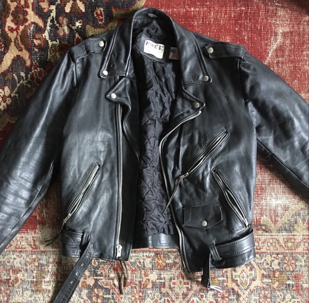 Leather Moto Jacket, Size Large , or  this XS one