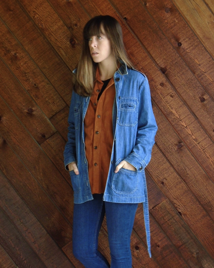Belted Denim Jacket, Size Small , or  this M one