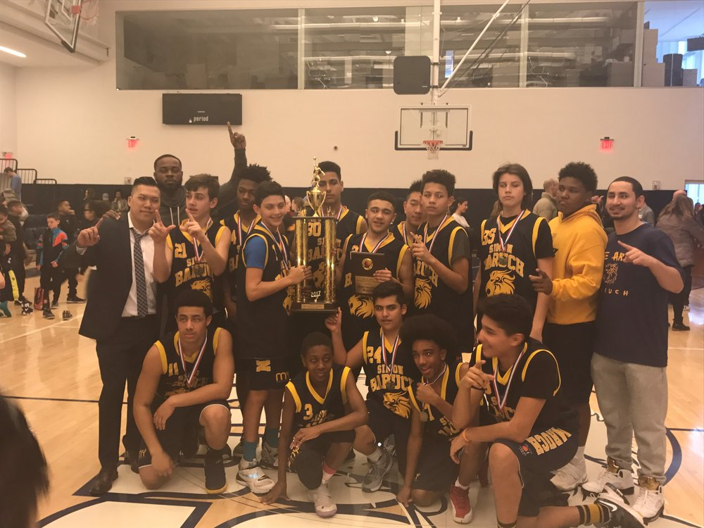 Simon Baruch Middle School Basketball Champs