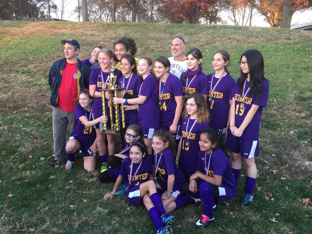 Hunter Middle School Soccer Champs