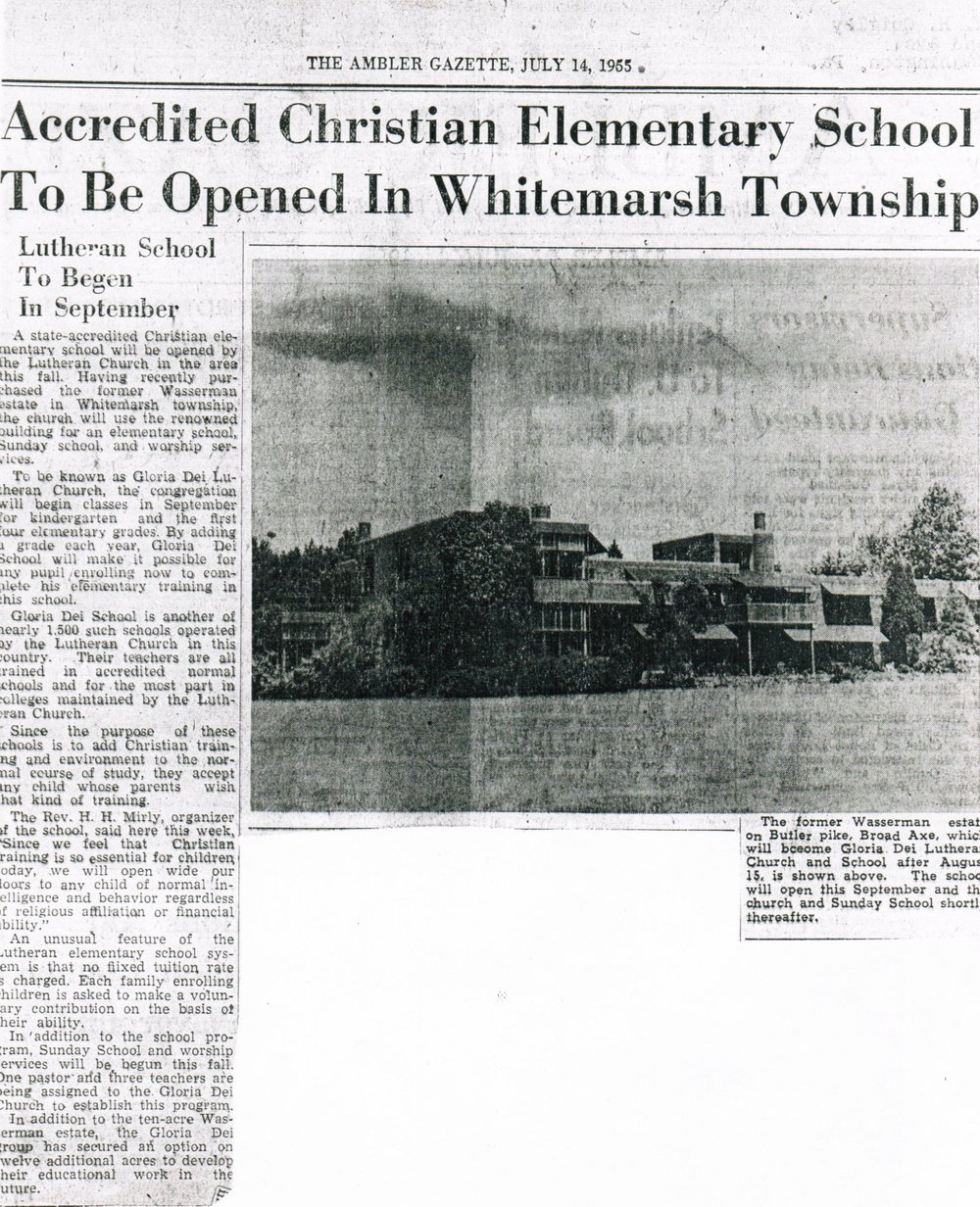 1955 Ambler Gazette Article (click to zoom)