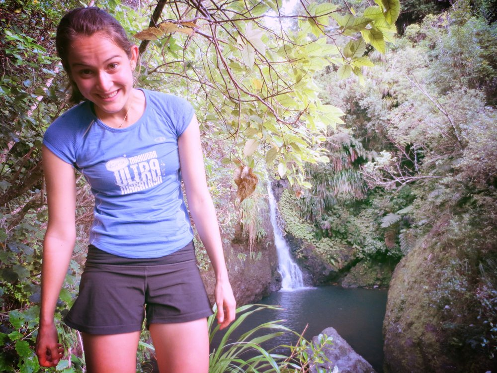 Training run to a waterfall in West Auckland, New Zealand.