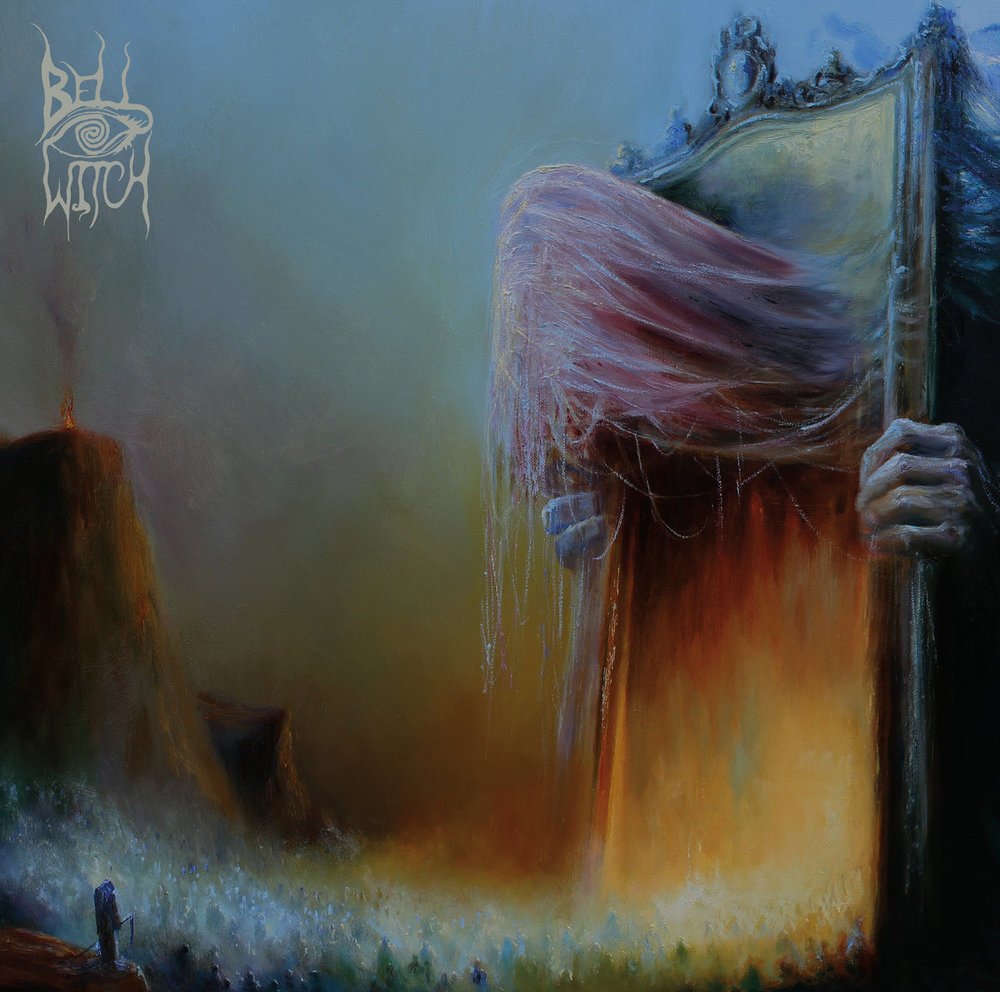 9. Mirror Reaper by Bell Witch - And now for the exact opposite record of #10, I give you, Bell Witch's Mirror Reaper. Instead 16 action packed, hardly a second to breathe tracks of fire, this is ONE track. Yes, a singular, 82-minute song, entitled Mirror Reaper. Its slow, sad, heavy, doom-y, death-y, and just a really awesomely composed piece of music. Mostly instrumental with some guest vocals going ranging from the clean, funeral-esque mourning melody, to the black metal growls at the full moon. An extremely impressive and atmospheric composition and wide range of diabolical sounds from only 2 dudes that are Bell Witch. And that album art, I mean, holy shit! Probably the coolest original metal album art I can recall in quite a while. Do yourself a favor, take the time out of your day, and throw on Mirror Reaper. I kind of wanted it played at my funeral, if that ever hurries up and gets here.