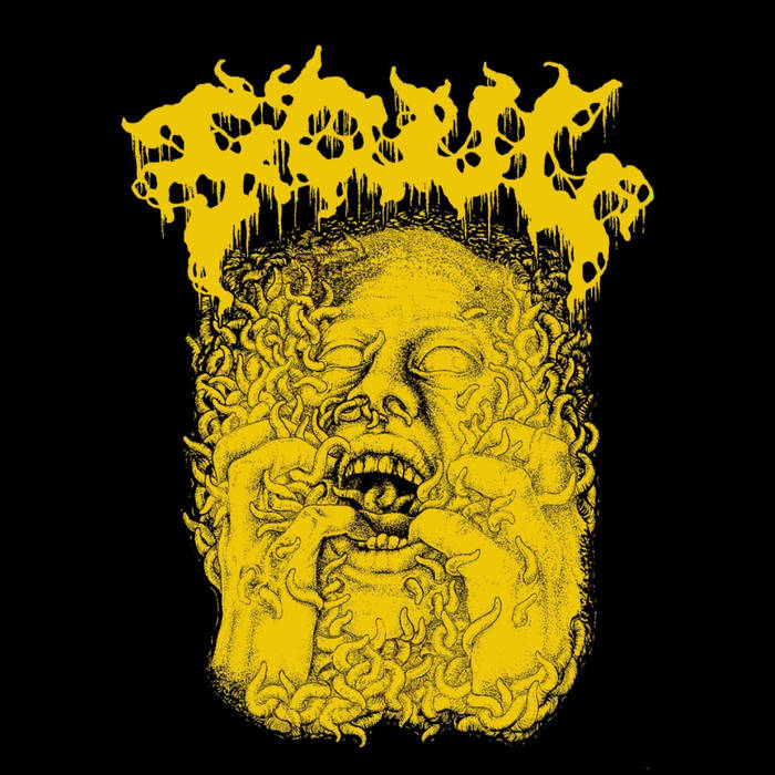"""Of Worms (EP) by FOUL - Aaaaand we're ripping this coffin right open with the maggot infested bloated corpse of Caligari Record's first 2019 release.. the debut EP by FOUL, Of Worm. Yes, it sounds exactly like you think it does. In fact, it literally sounds like a bloated, maggot-infested, corpse that moves faster than the doom filled death metal it spews. Despite hailing from the grim skied slice of America in Seattle, these dudes don't sound like they've had a Starbucks coffee in their entire lives. FOUL's flavor of death metal is low, slow, guttural, and gruesome. With 3 of the 4 songs of this debut EP pushing 7, 8, and 9 minutes long; they take their time offering servings grimy, various bodily fluid - soaked death metal for all to love.. and if you love death metal as much as I do, this release cannot be ignored.FOUL, who I am coining as Seattle's Best Death Doom Quintet, I promise to stop with the coffee jokes as soon as they're done delivering the sickest and thickest death metal ever committed to cassette (more on that later), which means never. Not to over shower the record with praise like FOUL perhaps does with zombie worms upon us, but this is some wickedly awesome shit. From the opening drum pattern of """"Effigy of Tredepucle Emaciation"""" to the final echoes of """"Feculent Unbirth"""", FOUL deliver a pure exercise in sensory overloading doom death listening pleasure.. or torture.. depending on where you stand in this bodily matter. The music seems to ooze into your brain much like aforementioned undead army of worms and infect you with their flesh eating disease of filth and despair, as FOUL create a gloomy monstrosity of musical compositions that is equally as infectious. Their ability to present the low and slow, doom riff heavy, and gloom-filled atmosphere infused with the guttural vocals and punishing death metal percussion that sounds like a horde of zombies headbanging on coffin lids, is remarkably intriguing. Take one listen to """"Sorceress Of Worms"""" that """