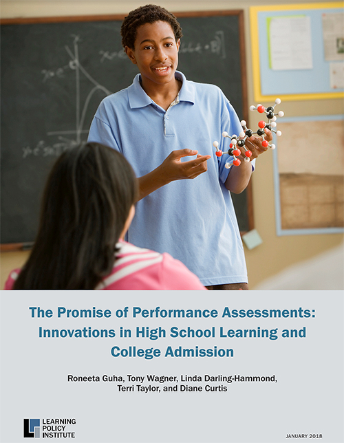 "DOWNLOAD REPORT     This report, published by the Learning Policy Institute (Palo Alto, CA), uses the NY Performance Standards Consortium as an example of how performance assessment has influenced changes in college admissions: "". . . NY Performance Standards Consortium has been identified as a ""high quality performance assessment sysment"""