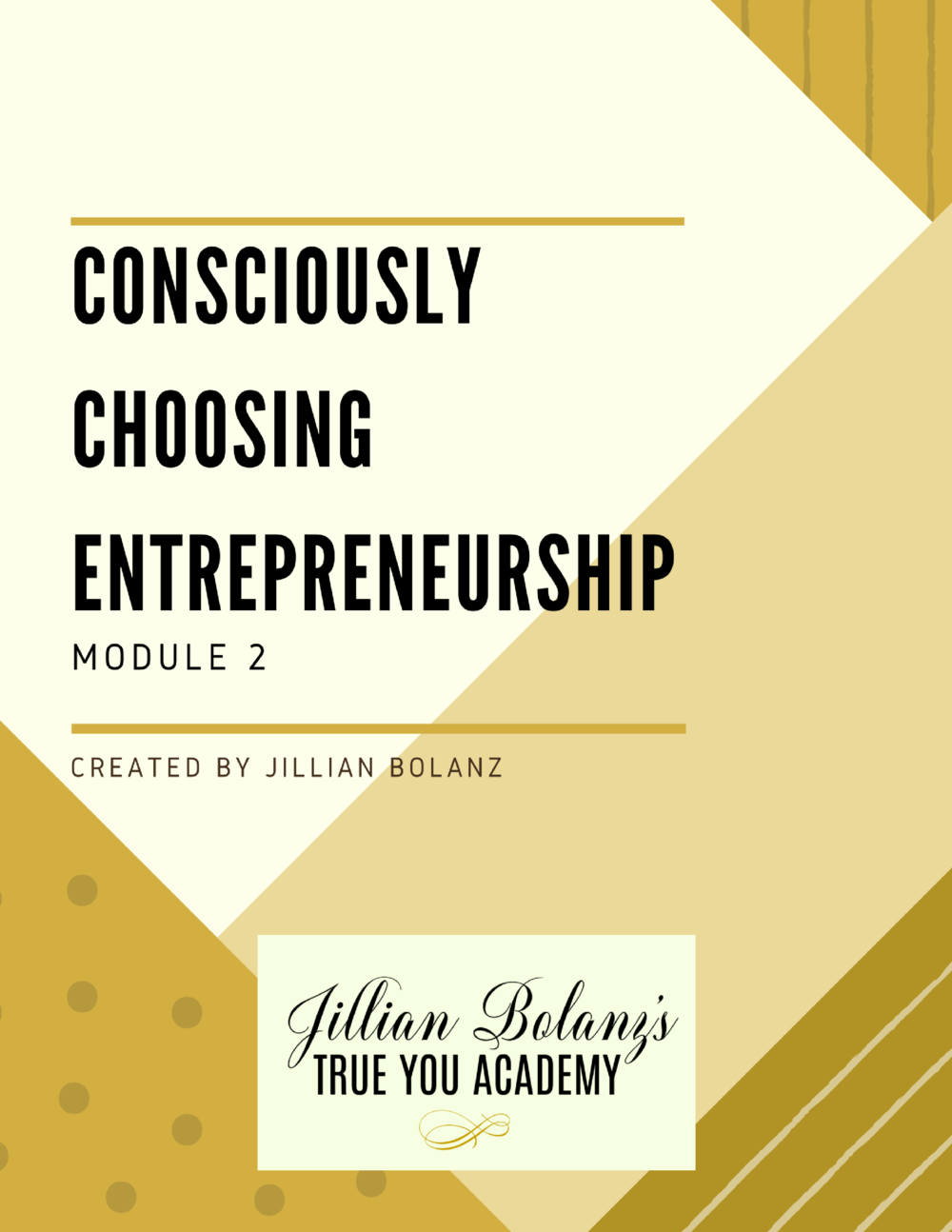 Here we will guide you into understanding why you want what you want We will help you choose your entrepreneurial career (rather than accidentally fall into it) You will learn to let curiosity and joy guide you to tangible results