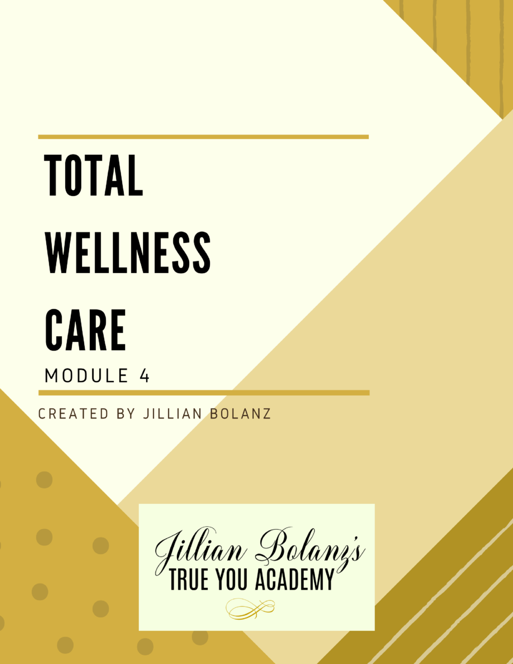 Here you will be guided in the importance of TOTAL self-care We will teach you the importance of listening to your intuition as you reflect upon what you need for your wellness We will talk physical, mental, emotional, spiritual, financial, (etc.) wellness and how to take care of all of you!