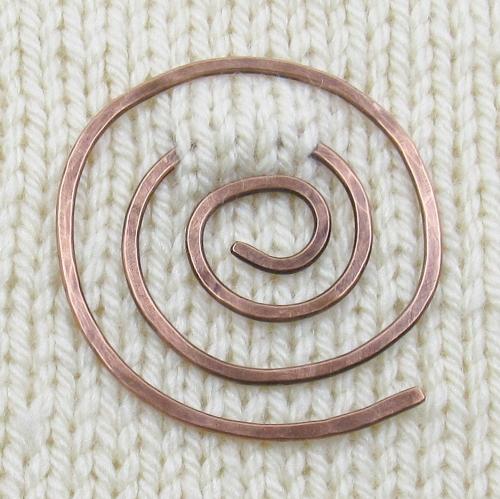 Copper shawl pin by Riin Gill Design
