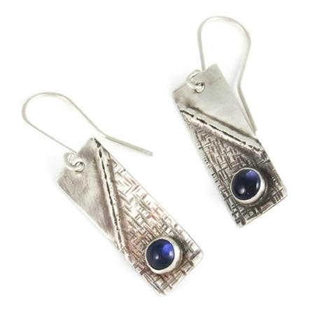 Sterling silver and Iolite earrings. Click image to view in shop.
