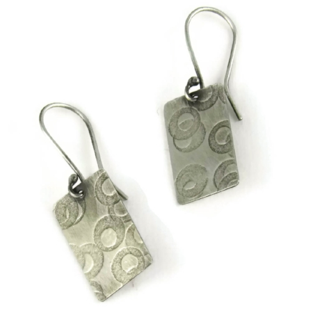 Sterling silver circles in circles earrings