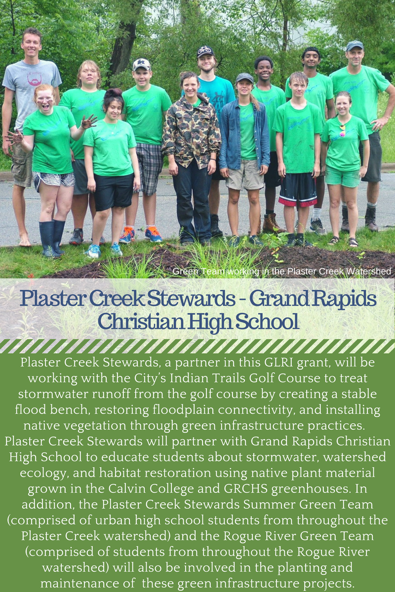 Plaster Creek Stewards Calvin College Grand Rapids Christian High School GLRI