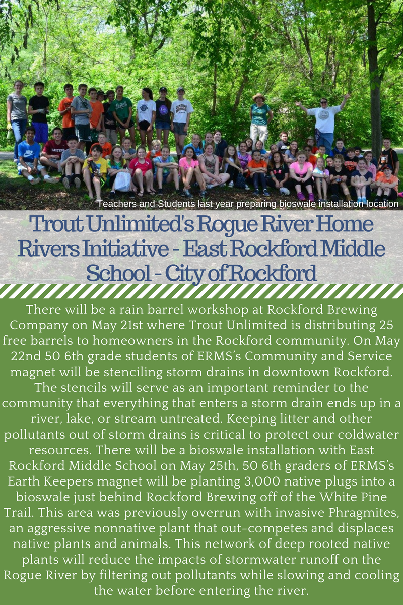 Trout Unlimited Rogue River Rockford East Rockford Middle School GLRI
