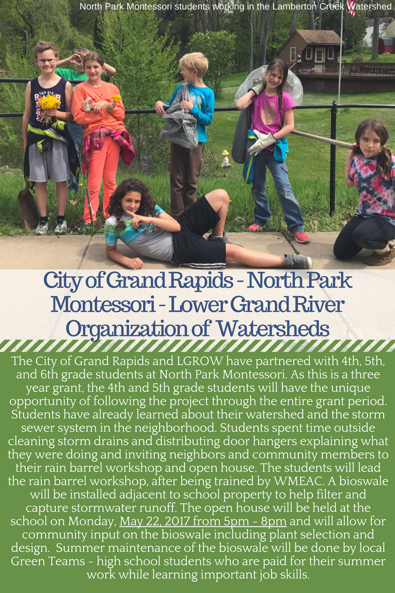 City of Grand Rapids North Park Montesorri Lamberton Creek GLRI