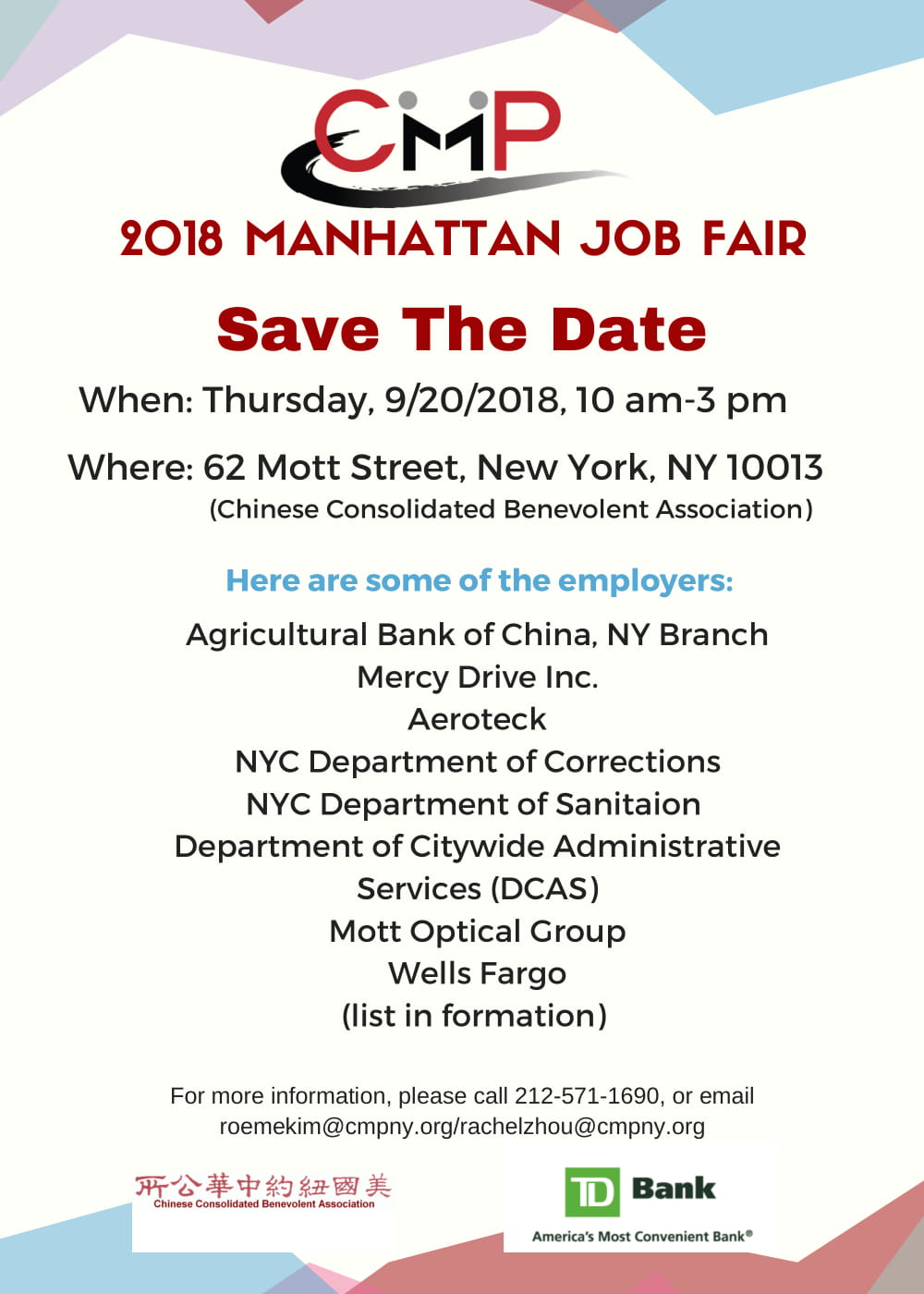Save The Date for Our 2018 Manhattan Job Fair! -
